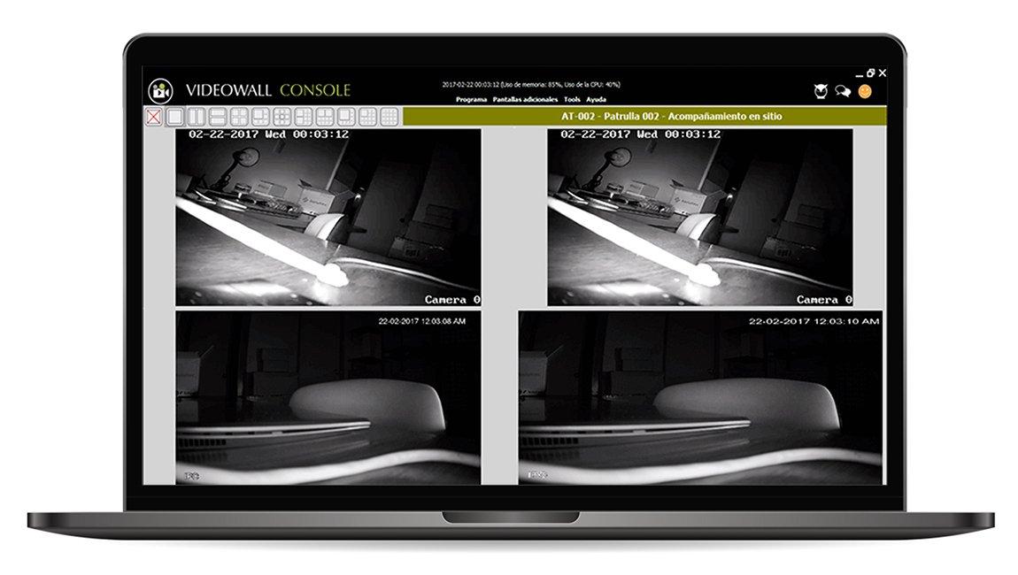 Video Wall con software de monitoreo Kronos NET