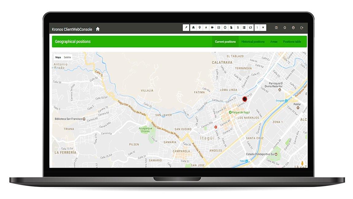 GPS y monitoreo de alarmas con Kronos NET