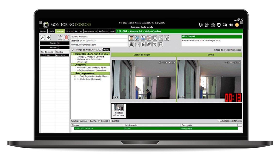 Control de video con Kronos NET