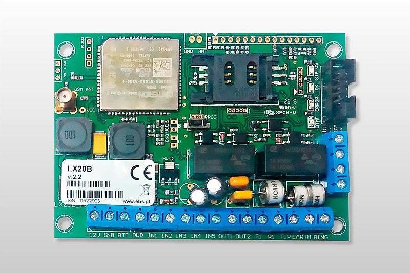 Comunicadores universales para alarmas LX20B-50 GPRS Solutec